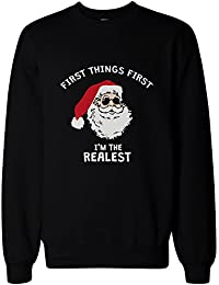 I'm the Realest Santa Pullover Sweater – Funny Christmas Graphic Sweatshirt