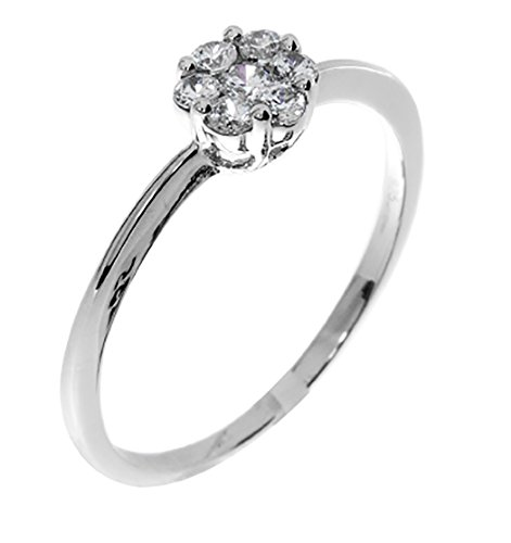 Solid Sterling Silver Promise Ring-Size 7.5 (R86865)