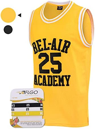 AFLGO Banks #25 Fresh Prince of Bel Air Academy 90's Basketball Jersey Stiched – The Super Cheap