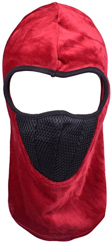 Men Try On Women's Halloween Costumes (Windproof Balaclava for Snowboarding Motorcycle Face Masks for Men Women Red)