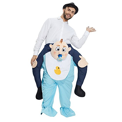 Yeahbeer Piggyback Ride On Riding Shoulder Adult Costume Carry Me Unisex Fancy Dress (Baby) - Piggy Back Costume Baby