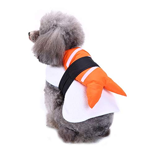 Yinrunx Pet Halloween Festival Costume Japanese Sushi Dress Up Cosplay Funny Clothes ()