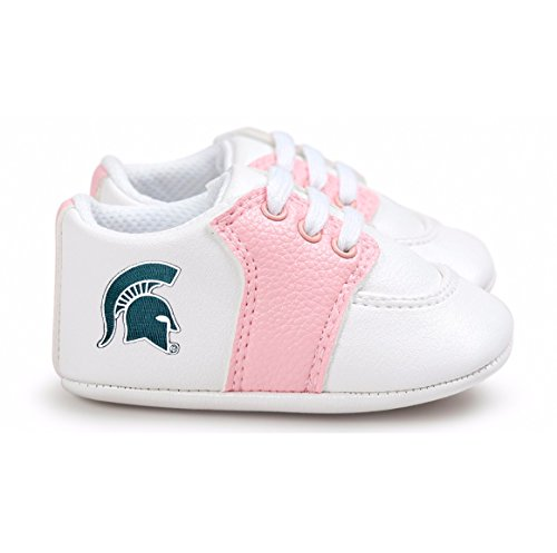 (Future Tailgater Michigan State Spartans Pre-Walker Baby Shoes - Pink)