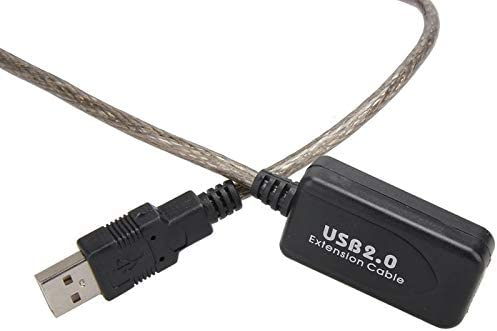 Calvas 5M USB 2.0 Male To Female Extension Line Cable High Speed Wire Data Adapter Color: Photo Color