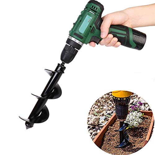 SuperThinker Auger Drill Bit, Garden Plant Flower Bulb Auger Rapid Planter for Planting Bulb Seedlings & Bedding Plant Auger for 3/8