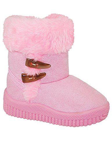 Toddler Bootie with Shearling , PINK, SIZE 5 (Shearling Bootie)