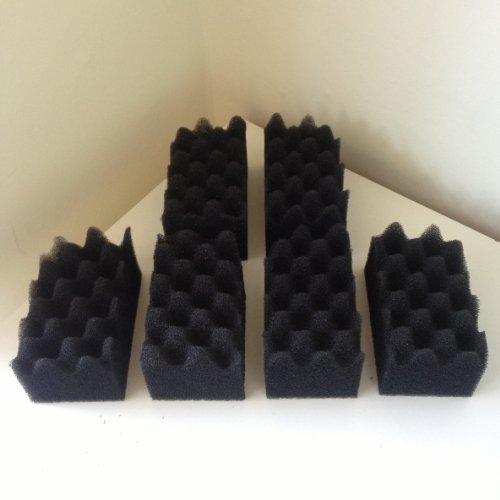Finest-Filters 12 x Compatible Fluval Bio-Foam Filter Pads suitable for 304/305/306/404/405/406