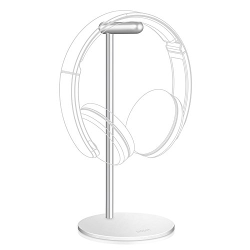Headphone Stand Holder,DISDIM [DIY Install] Stylish Contracted Style Full Aluminum Display Rack Headset Earphone Headphone Stand for Gamers,Store,Exhibition Center,Home,Office (Silver) free shipping