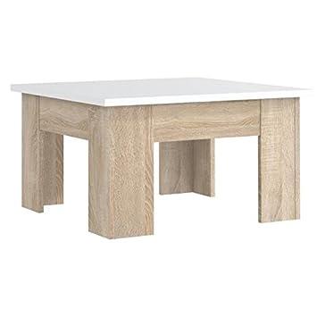 Finlandek Table Basse Carrée Pilvi Style Contemporain Blanc Mat Et
