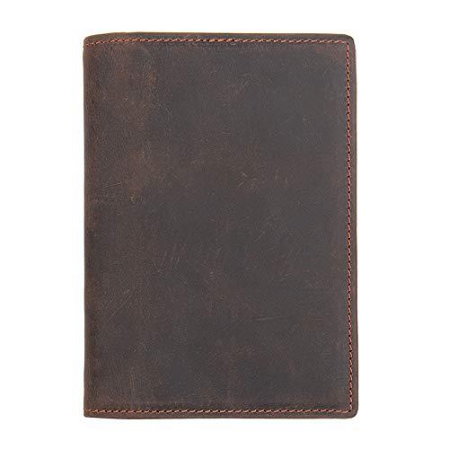 Color : Black, Size : S MUMUWU Mens Wallet Travel Passport Bag Leather Document Bag Passport Holder Document Package Ticket Holder RFID Case Mens Wallet Leather