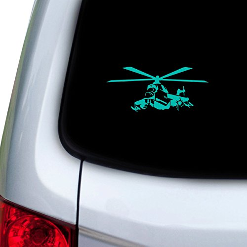 StickAny Car and Auto Decal Series Apache Helicopter Sticker for Windows, Doors, Hoods - Apache Helicopter Decal