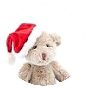 alfombrilla de ratón Weihnachtsteddy - ronda - 20cm