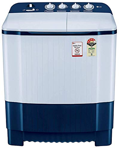 LG 6.5 Kg 4 Star Semi-Automatic Top Loading Washing Machine (P6510NBAY, Dark Blue, Rat Away Technology) 2021 August Semi-automatic washing Machine: Economical, Low water and energy consumption, involves manual effort; Has both washing and drying functions Capacity 6.5 kg (wash): Suitable for large families Energy rating 4: High energy efficiency