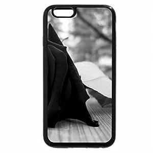 iPhone 6S Plus Case, iPhone 6 Plus Case (Black & White) - roses oscura