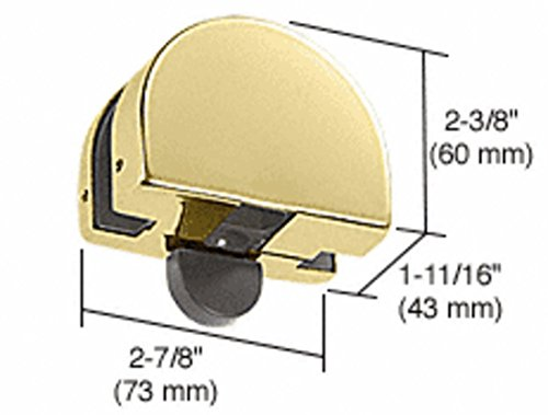 CRL Brass PTH Series Top Transom Door Stop Patch Fitting by CR Laurence