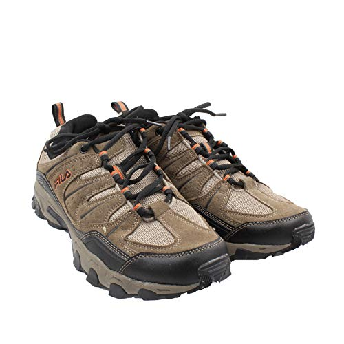 Fila Men's Outdoor Hiking Trail Running Athletic Shoes Brown/Orange (13)
