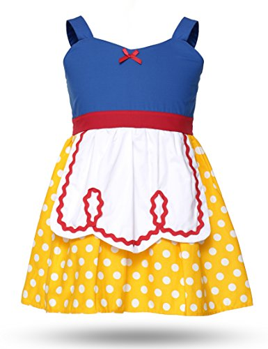 Snow White Dresses For Toddlers (Muababy Snow white beautiful cotton cosplay dress (3 years, snow white/yellow))
