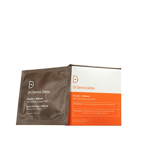(Dr. Dennis Gross Skincare Ferulic and Retinol Wrinkle Recovery Peel Facial Mask, 16 Count)