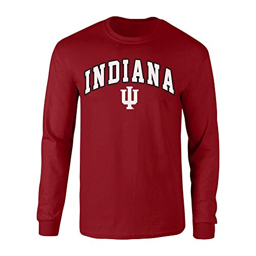 Elite Fan Shop NCAA Indiana Hoosiers Men's Team Color Arch L