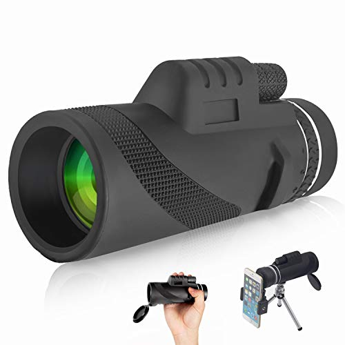 Dual Focus Monocular Telescope, 40×60 Zoom Monocular Telescope, Waterproof Compact Optics for Sporting Events, Concerts, Wildlife, Hunting, Fishing, Exploring, Racing and Travelling.