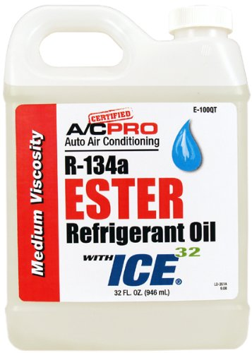 R-134a Ester Refrigerant Oil With ICE-32 Lubricant Enhancer (1 Qt.) by Pro-C