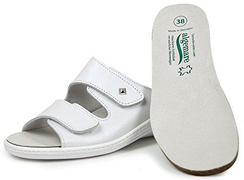 Algemare 1458-1127 Damen Pantoletten Wechselfußbett blanco (weiß) (42) 3y7mWoXr