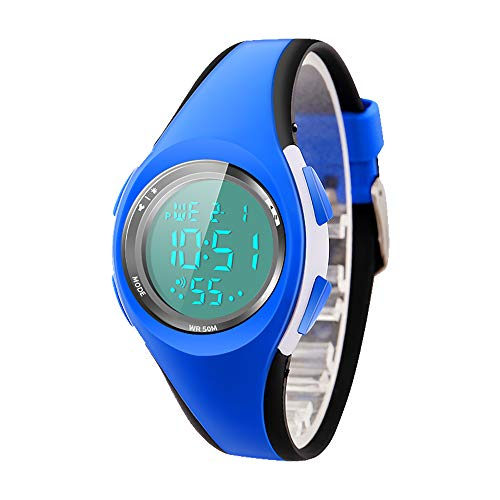 Best Wristwatch Watch For Girls Boys - Kid Watch Sport LED Alarm Stopwatch