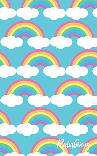 Rainbows: Lots of Cute Pastel Rainbows Pattern Gift Journal for Girls, Women and Rainbow Lovers (Blank Lined Notebook)