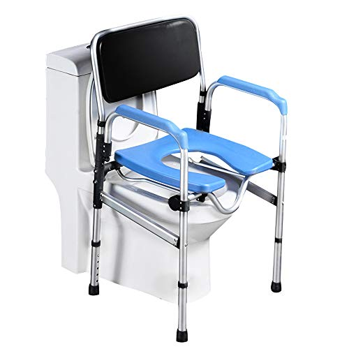 - Pebegain Bathroom Folding Toilet Handrail, Elderly, Disabled and Handicap People Safe Anti-Skid Toilet Auxiliary Railing, Comfortable and Convenient Mobile Toilet Stool