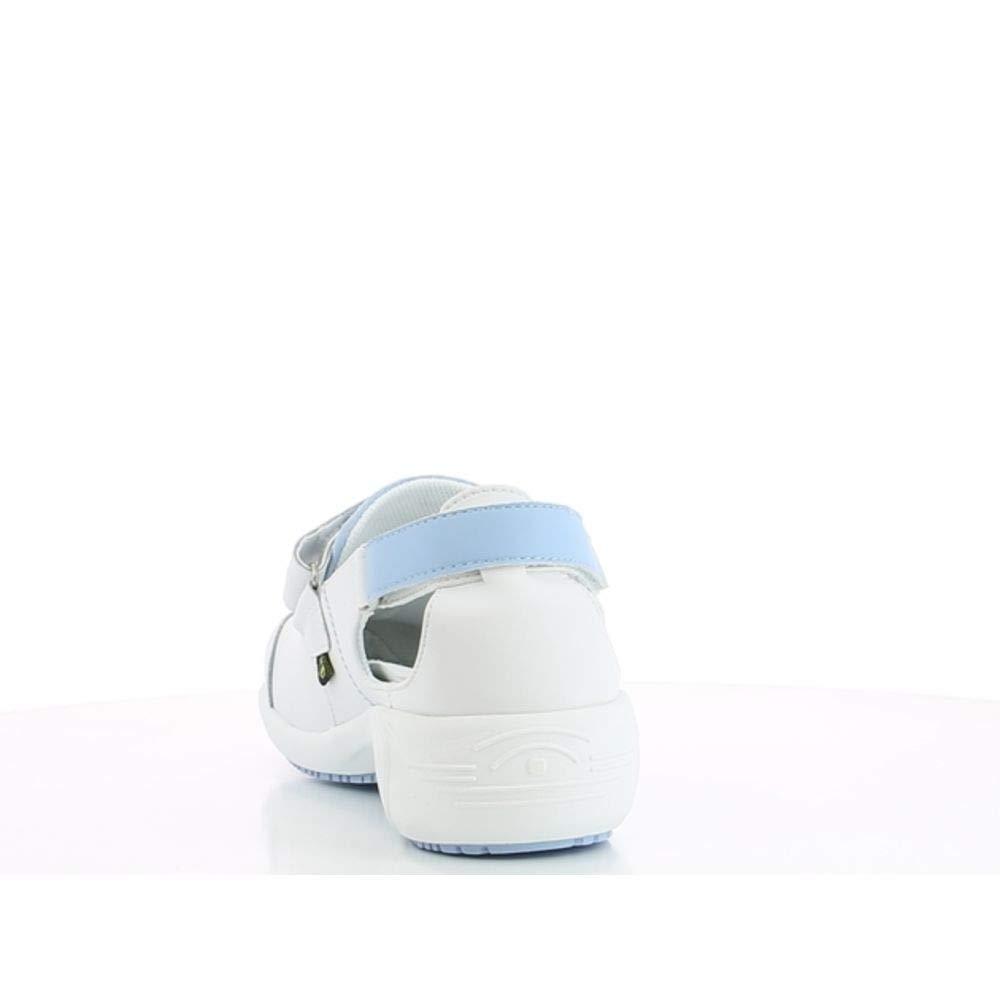 White//Fuchsia Antistatic Nursing Shoes Oxypas Move Up Salma Slip-resistant 37 EU Fuchsia 4 UK