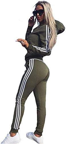 レディースジャージ上下セット ヨガスポーツウェアを実行している女性の長袖フード付きストレッチフィットネス (色 : Photo Color, サイズ : S)