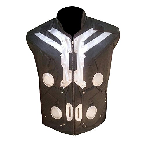 SALTONI Thor Avengers Age of Ultron Brown Leather Vest - Top Seller (M) - Exclusive Stand Collar Jacket