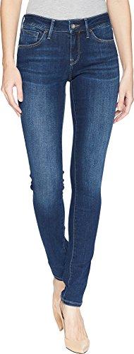 In Mavi Worn Jeans (Mavi Women's Alexa Mid-Rise Skinny Jeans, Dark Supersoft, 27W x 32L)