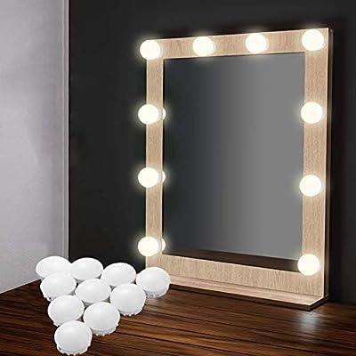 Vanity Mirror Lights Strip Kit Eeieer 10 Dimmable Lighting Bulbs