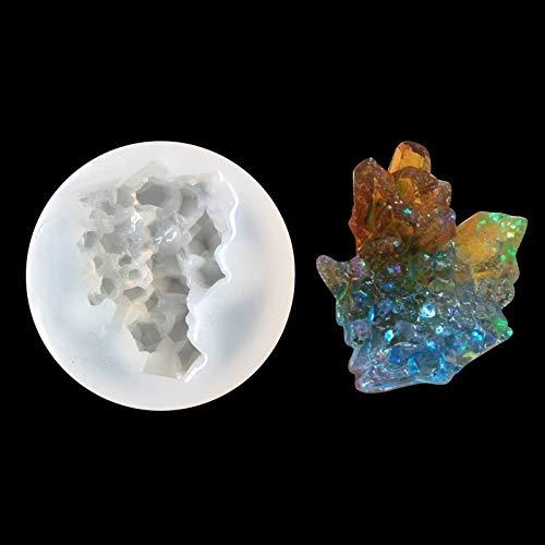 September DIY Full Mirror Crystal Cluster Epoxy Molds Handmade Homemade Irregular Simulation Stone Mold Iceberg Decoration Ultra Light Clay Decorative Moulds (Quartz Mold)