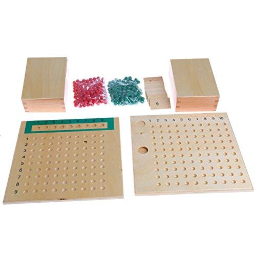 Beadboard Toy Boxes - Forgun Montessori Mathematics Material Multiplication Bead Board Educational Toys Kid
