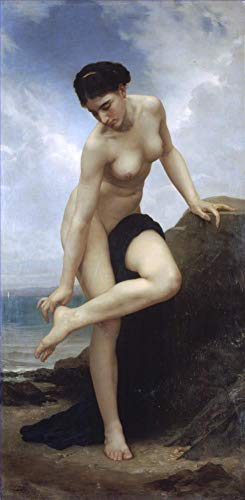($50-$2000 Handmade Oil Painting by College Teachers - Apres le bain 1875 William Adolphe Bouguereau Nude Classic NCC1 Canvas Art for Home Wall Decoration -Large Size 16)