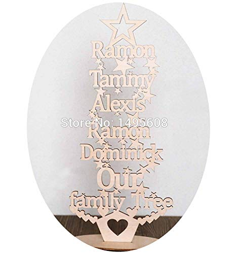 onalised Christmas Our Family Tree Any Words Free Standing Plaque,Two Name ()
