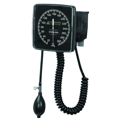 Sphygmomanometer - Wall Mount - Aneroid Type with Adult Cuff ()