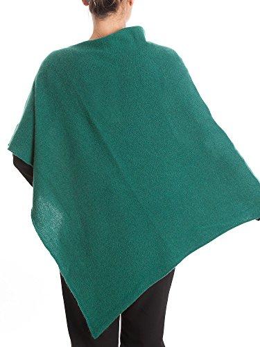 Donna Cashmere Piane 100 Poncho Verde Dalle xqHafwq