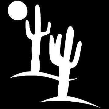 Cactus Desert Scene Vinyl Sticker Waterproof Decal