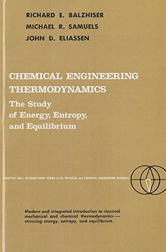 Chemical Engineering Thermodynamics