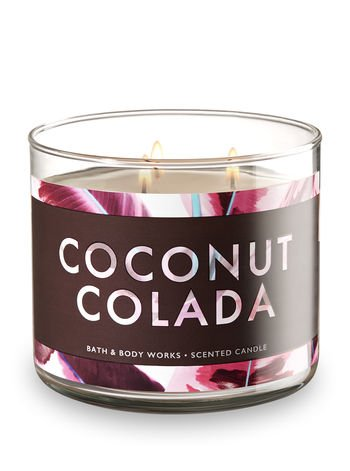 Dark Rum Candle - Bath and Body Works White Barn 3 Wick Scented Candle Coconut Colada 14.5 Ounce