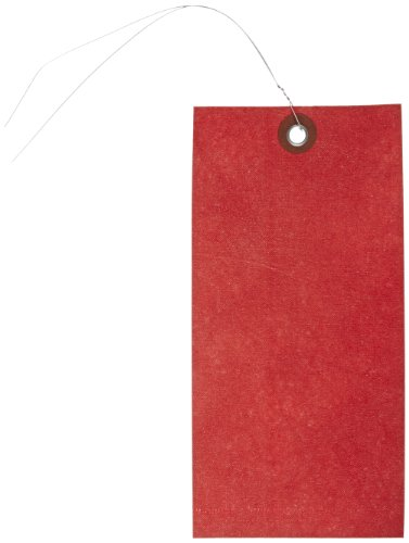 (Quality Park G14083D Tyvek Spunbonded Olefin Pre-Wired Shipping Tag, 6-1/4