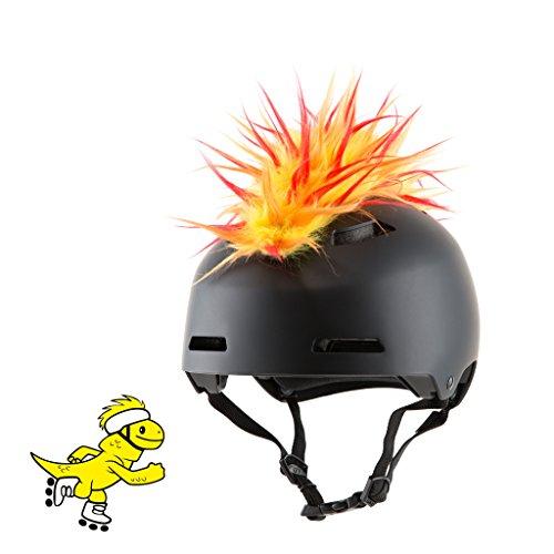 Yacu The Iguana   Removable Velcro Accessories   Helmet Mohawk  Flame Yellow