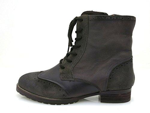 edel Leder T Boots Kell Stiefeletten Schnürschuhe Moro Damenschuhe qXWzaO