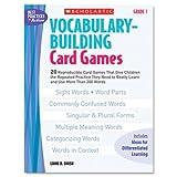 Scholastic Vocabulary Building Card Games, Grade