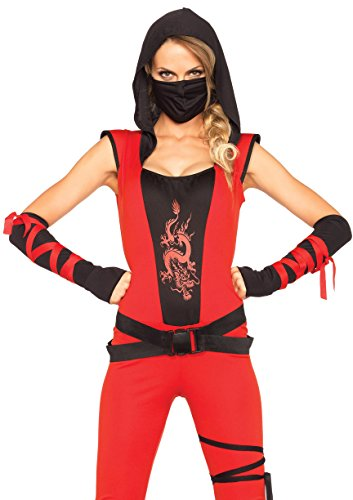 Women's Ninja Assassin Costumes (Leg Avenue Women's Ninja Assassin Costume, Red/Black, Small)