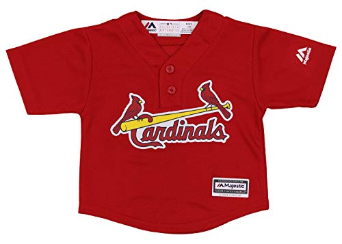 (Outerstuff MLB Infant (12M-24M) Cool Base Henley Tee, St. Louis Cardinals 12 Months)