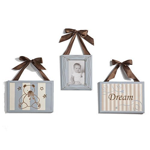 Preston Canvas Art w/ Photo Frame - 3 Pieces
